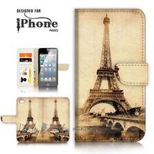 ( For iPhone 8 ) Wallet Case Cover P21053 Eiffel Tower Paris