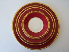 COALPORT BONE CHINA ENGLAND ATHLONE MARONE RUBY  DINNER PLATE SALAD LUNCH BOWL