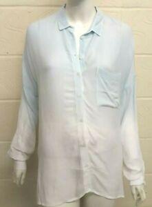 Women Ladies Topshop dip dye oversize cheesecloth shirt