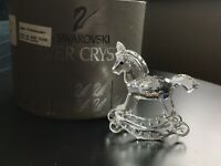 Retired Swarovski Austria Silver Crystal Figurine #183270 ROCKING HORSE MIB