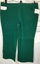 Quacker Factory Dream Jeannes  Boot Cut Pants 28W Hunter Green NEW