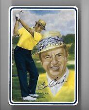 SAM SNEAD PGA HOFER 1994 GARTLAN USA CERAMIC CARD NIB AND STAND