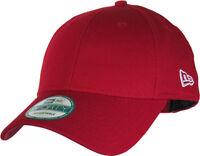NEW ERA MENS 9FORTY BASEBALL CAP.GENUINE RED BASIC CURVED PEAK ADJUSTABLE HAT 30
