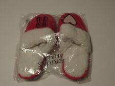 Victorias Secret Diamond Knit Red Faux Fur Slippers Medium New Birthday Gift