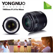 Yongnuo YN50MM F1.4 AF/MF Auto Focus Standard Prime Lens for Nikon DSLR Cameras