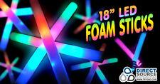 90 Led Light Up Foam Sticks Multi color 3 Function Edc Rave Baton Party Wand