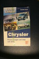 CHRYSLER Personenwagen und Jeep seit 1945 Typenkompass NEU in OVP
