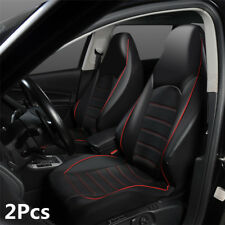 2Pcs Universal PU Front Car Seat Covers Auto Seat Protector Interior Accessories