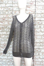 GOK For TU New With Tag Pretty Black Silver Scalloped Cardigan/Cover Up, size 12