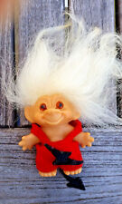 Original Vintage Thomas Dam Troll Doll Made In Denmark Stamped on back 2 3/4""