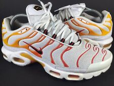 Nike Air Max Plus Tn Sunburn White Yellow Orange Black Size 9.5 Rare 604133-132