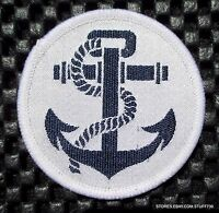 "ANCHOR EMBROIDERED SEW ON PATCH UNIFORM BADGE EMBLEM 2"" round Collectible"