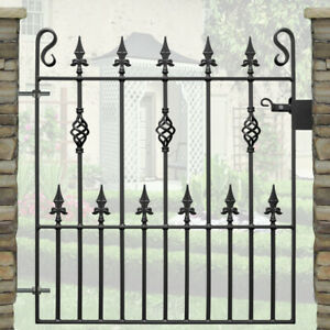 "Wrought Iron Garden Gate | 2ft 9"" (840mm) Opening-3ft Frame Height-TRENT DESIGN"