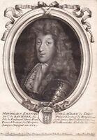 Portrait XVIIe Maximilien-Emmanuel de Bavière Maximilian II. Emanuel Electeur