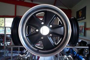 Porsche Fuchs Desingfelgen schwarz 6x15 für Porsche 911 mit TÜV Teilgutachten