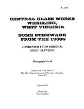Central Glass Works stemware from the 1930s-book