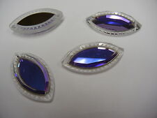 2 swarovski crystal pendants(top drilled)37x20mm heliotrope Z #6236