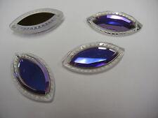 2 swarovski crystal pendants(top drilled)37x20mm heliotrope Z #6236