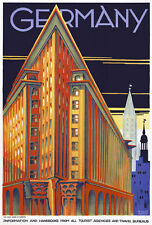 "TT63 Vintage Hamburg Germany German Travel Poster Re-Print A3 17""x12"""