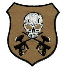 2 BB gun Skull Punk Militrary Embroidered Iron on Patch