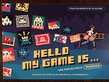 Showcard Space Invader Hello My Game Is Not Banksy Streetart
