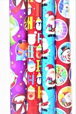 4x10m Christmas Gift Wrap Paper Xmas Prizes Presents Wrap Rolls Assorted Designs