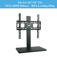 """Universal TableTop Tv Stand for 32-60"""" Tvs Height Adjustable Jumbo Metal Base"""