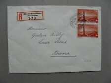 SWITZERLAND, R-cover 1942, pair 20 c  Pro Patria