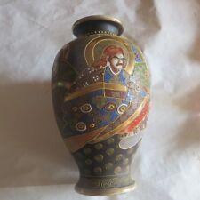 Très grand vase japonais (2) avec nombreuses dorures – a été réparé -