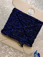 Dark Blue 4ply Heavy Metallic Thread x 3m Wonderfil Sizzle