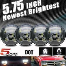 "Brightest 4pc 5.75 5-3/4"" 90W LED Headlight for Chevy Corvette Peterbilt 389 359"