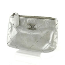 CHANEL coin purse caviar skin  COCO Mark leather Auth used T18478