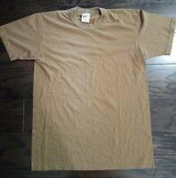 Vintage SOFFE Dri-Release Blank Made In USA T-Shirt Brown Mens Size Medium USA
