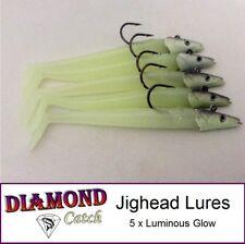 5,Jig Head Fishing Lures Luminous Sandeel Jigheads Cod Bass Pollock