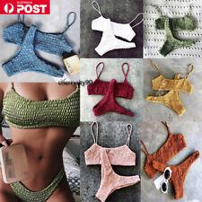New Women Bikini Set Bandage Push Up Padded Swimwear Swimsuit Bathing Beachwear