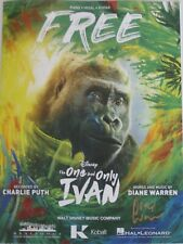FREE SHEET MUSIC SIGNED DIANE WARREN THE ONE AND ONLY IVAN ORIGINAL SONG PROMO