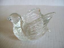 """Vintage Avon Crystal Bird Candle Holder Votive Glass 4"""" x 3"""""""