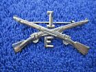 WW1 US ARMY INFANTRY OFFICER HAT OR COLLAR INSIGNIA   - 1st DIVISION  E COMPANY