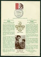 Seltenes Privat Ersttagsblatt Berlin Nr.190 Verlag Erich Braun ETB Schiller 1959