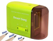 Green Electric Pencil Sharpener Heavy Duty for Office/School/Home+Power Adapter