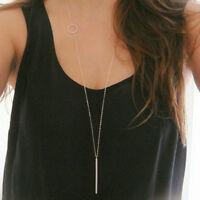 Simple Charm Long Chain Necklace Elegant Pendant Jewelry Street Shoot Fashion