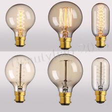 60W/220V Vintage Filament Tungsten Bulb B22 Bayonet BC Incandescent Pendant Lamp