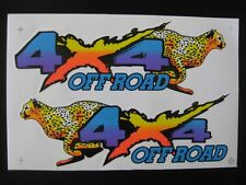 MIRRORED PAIR OF CHEETAH 4 X 4 OFF ROAD STICKERS/DECALS (A014)