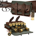 Leather Ammo Pouch Rifle Shotgun Cartridge Shell Holder Case Belt Bag 12 Ga .303