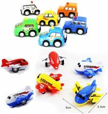 12pcs Mini Push Pull Racer Cars Airplane Toy Set 6 Play Vehicle 6 Mini Airplane