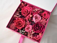 Preserved Flower Box, Gift, Flower Gifts, Flower Decor, Preserved Rose -Hot Pink