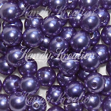 10mm Violet Purple Acrylic Round Pearl Spacer chunky bead for bubblegum necklace