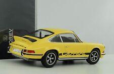 Porsche 911 2.7 Carrera RS Touring 1973 gelb schwarze Schrift 1:18 Norev 187638