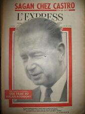 477 O.N.U. HAMMARSHJOELD CUBA CASTRO REPORTAGE F. SAGAN DANINOS L'EXPRESS 1960