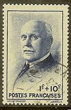 "FRANCE TIMBRE STAMP N° 568 "" MARECHAL PETAIN BLEU 1F+10F "" OBLITERE TB"